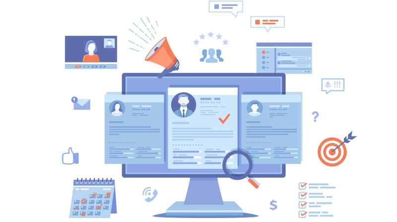 Customer analytics illustration