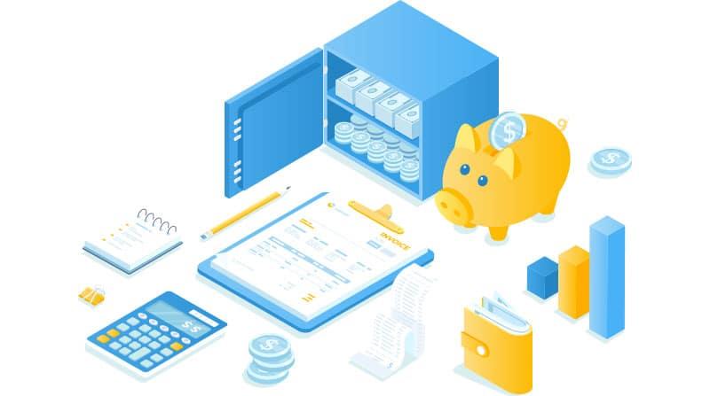 Financial data illustration