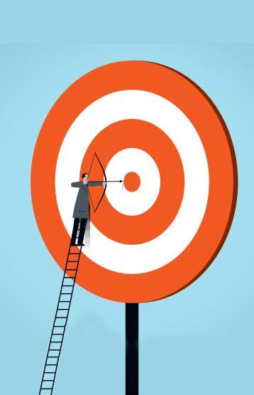 Man shooting at a target