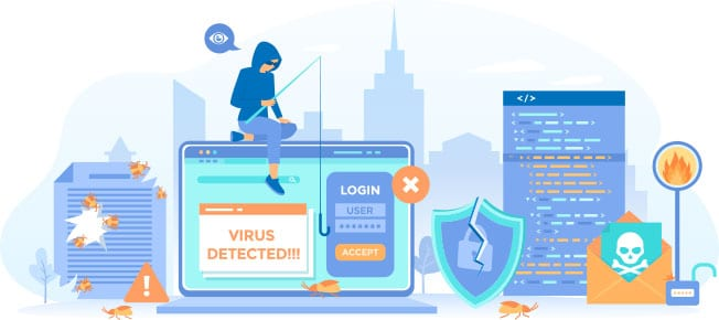 Website hosting protection illustration